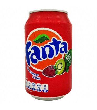 Fanta strawberry & Kiwi 0, 33 л.